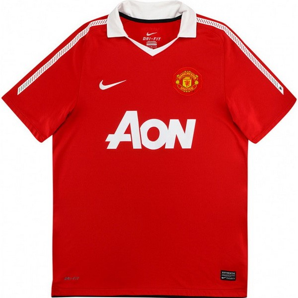 Maillot Foot Manchester United 1ª Retro 2010 2011 Rouge